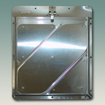 Placard Holder - Slide In Style with Mounting Holes - Riveted Aluminum with Stainless Steel Clip(212